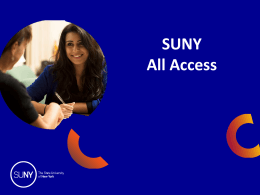 SUNY All Access - State University of New York