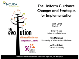 Changes and Strategies for implementation