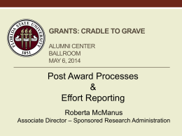 Post-Award Process - Office of Research