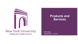 PPP about Products and Services at NYUFCU