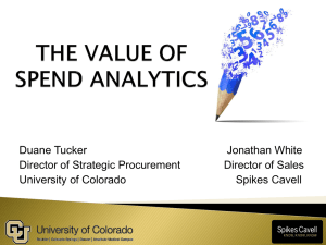 The Value of Spend Analytics – Webinar 11-19-2014