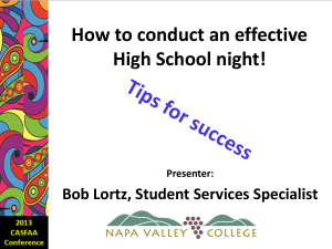 How to Conduct an Effective High School Night