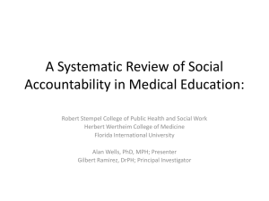 A Systematic Review of Social Accountability in Medical