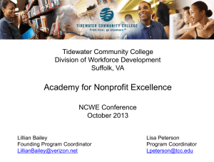 Academy for Nonprofit Excellence
