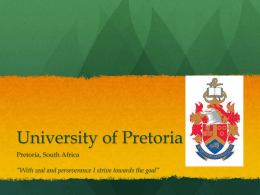 University of Pretoria - Kansas State University
