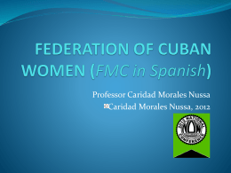 federation of cuban women - US Women & Cuba Collaboration
