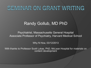 Seminar on Grant Writing