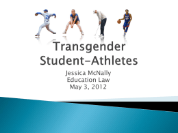 Transgendered Student-Athletes