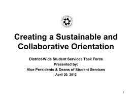 Creating a Sustainable and Collaborative