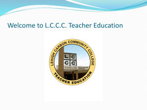 Welcome to LCCC Teacher Education
