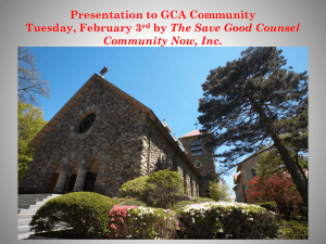 The Save Good Counsel Community Now, Inc.