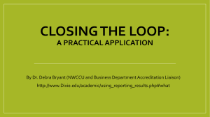 An example of using data to close the loop (Debra Bryant)