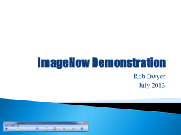 ImageNow Demonstration - CIT Conference