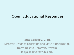 Open Educational Resources - Dickinson State University