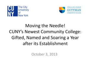 Moving the Needle! - Association of Community College Trustees