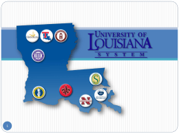 Baton Rouge Press Club (PPT) - University of Louisiana System