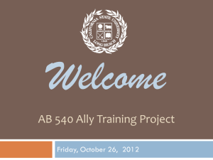 AB 540 Ally Training Project - California State University, Long Beach