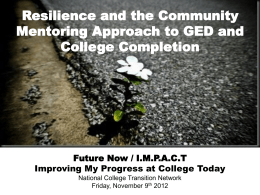 Future Now: Impact Resilience - New York Reentry Education Network
