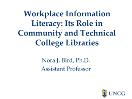 Presentation Slides - UNC School of Information and Library Science
