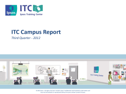 Q3 Report - Ipsos Training Center
