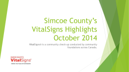 Launch Presentation October 2014 - United Way of Greater Simcoe