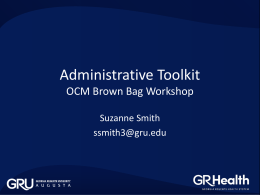 Administrative Toolkit - Georgia Regents University