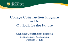 Campus Construction Program and the Facilities Master