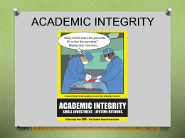 ACADEMIC INTEGRITY - Georgetown College