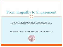 From Empathy to Engagement (PowerPoint)