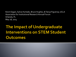 The Impact of Undergraduate Interventions on STEM Student