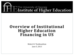 Higher Education Finance Part 2-Toutkoushian