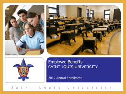Employee Benefits - Saint Louis University