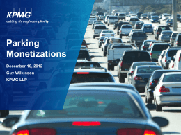 Parking Monetizations v 03 GWilkinson KPMG