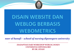 step by step improving website for webometric and world class
