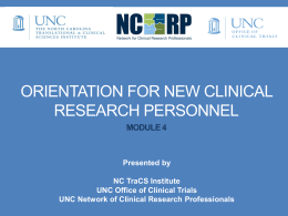 Module 4 - Network for Clinical Research Professionals