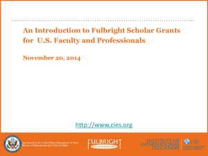 Fullbright Scholar Information Session Presentation