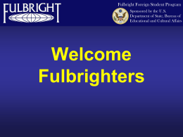 Fulbright Grant and Responsibilities