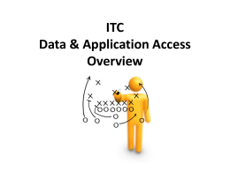 ITC Data & Application Access Overview