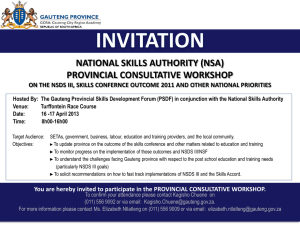 national skills authority (nsa) provincial