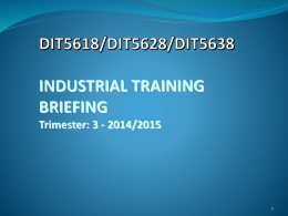 Industrial Training Registration