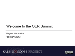 Welcome to the OER Summit (PPT)