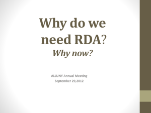 Why do we need RDA?