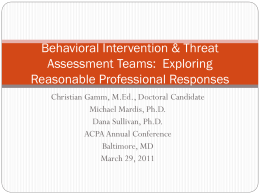 Behavioral Intervention & Threat Assessment Teams