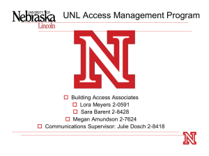 UNL Key Management Program - Police