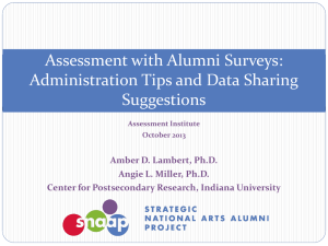 Assessment with Alumni Surveys - SNAAP