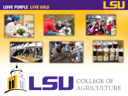 Student Services - College of Agriculture