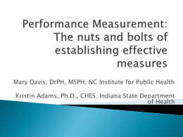 Performance Measurement - National Network of Public Health