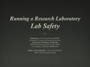 Laboratory Safety - Research - University of Southern California