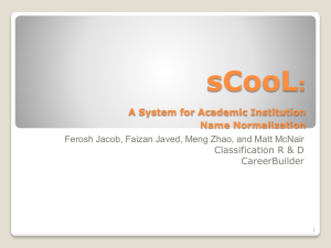 sCooL: A System for Academic Institution Name Normalization