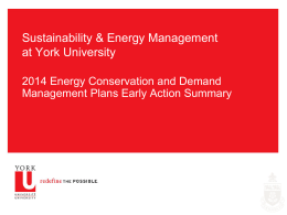 2014 Energy Conservation and Demand Management Plan Early
